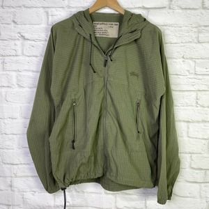 STUSSY Green Checkered Plaid Utility Jacket